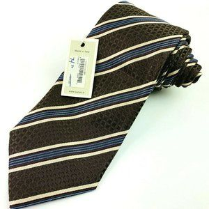 Canali Brown Striped Tie